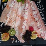 Fresh Salmon Served With Dressings