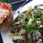 Fresh Green Leaf Salad and Coleslaw