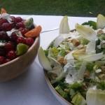 Chefs Ceaser Salad and Tomato and Mozzarella Salad