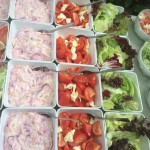 Homemade Coleslaw And Salad Servings