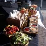 Selection Of Fresh Salads And Sauces