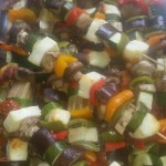 Vegetable and Halloumi Skewers